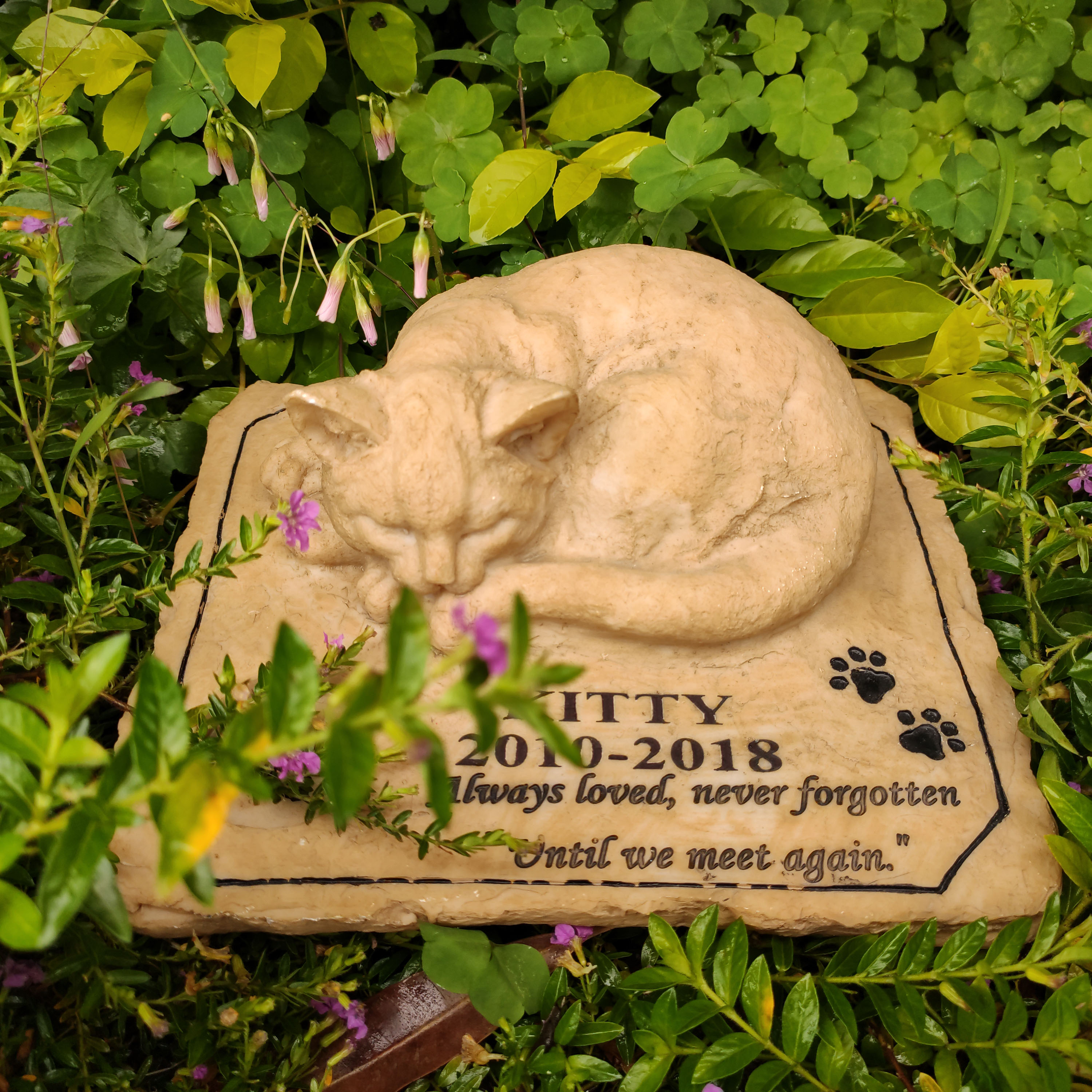 Pet Memorial Stones Personalized Name Date Cat Memorial Stones Tombstones Outdoors Or Indoors For Garden Backyard Grave Markers