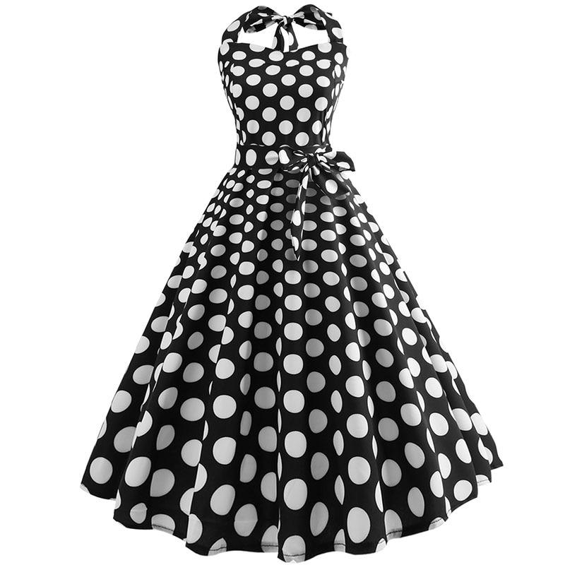 Plaid Print Halter Strapless Women Dress  Summer Sexy Backless Party Dresses Ladies Elegant Vintage Rockabilly Vestido 6