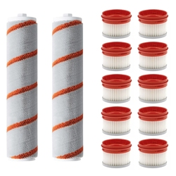12PCS Roller Brushes Hepa Filter Replacements for Xiaomi Dreame V9 Cordless Handheld Vacuum Cleaner