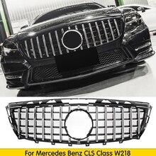 Для W218 GT решетка GTR решетка для Mercedes CLS Class 2011- Сменная сетка автомобильные аксессуары передний бампер без эмблемы