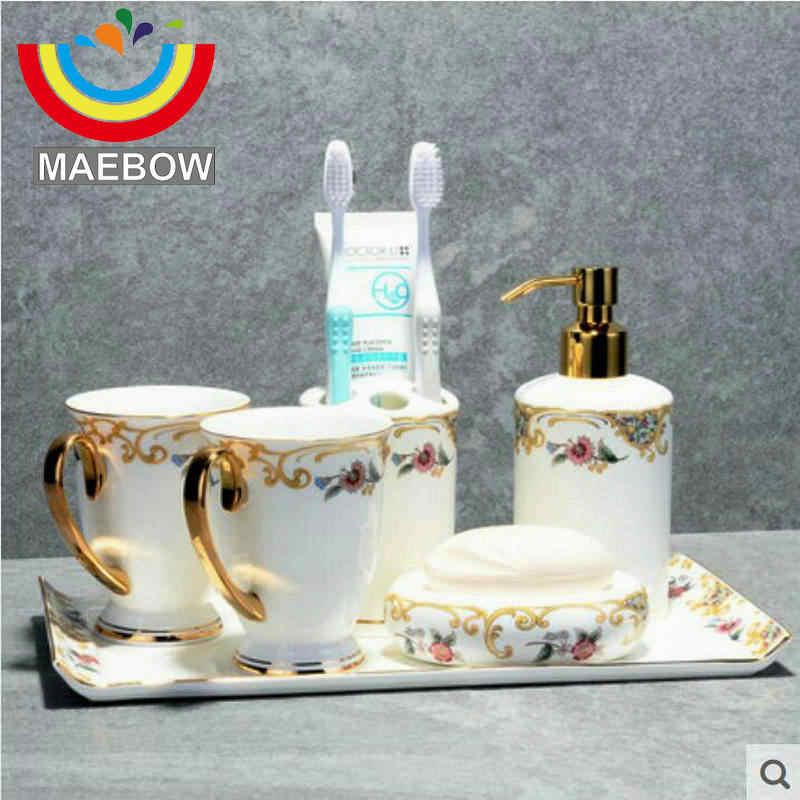 Licht Luxious Bad Zubehör Hochzeit Geschenk Hause Dekoration Hohe Quanlity Knochen Chine Bad Set