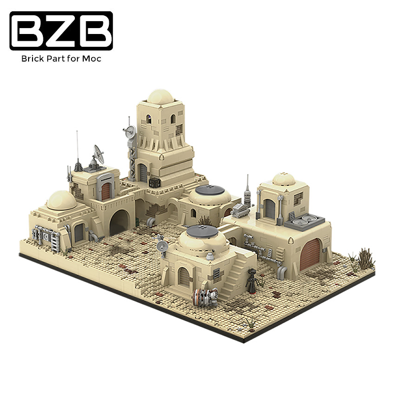 BZB MOC 52200 Battles In The Planet Space Building Blocks Bricks Street View Model Modules Suitable For Kids DIY Gift Toys