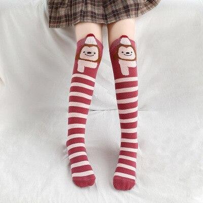 Носки для маленьких девочек; Хлопковые гольфы с изображением лисы; милые Гольфы с рисунком; детская одежда; носки для обуви для малышей; Носки с рисунком - Цвет: 3