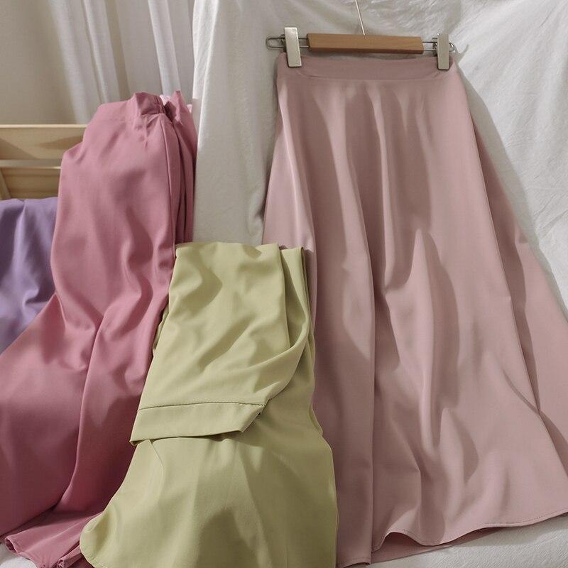 Women Elegant OL Skirt Fashion Party Office Skirts Solid High Waist Skirts