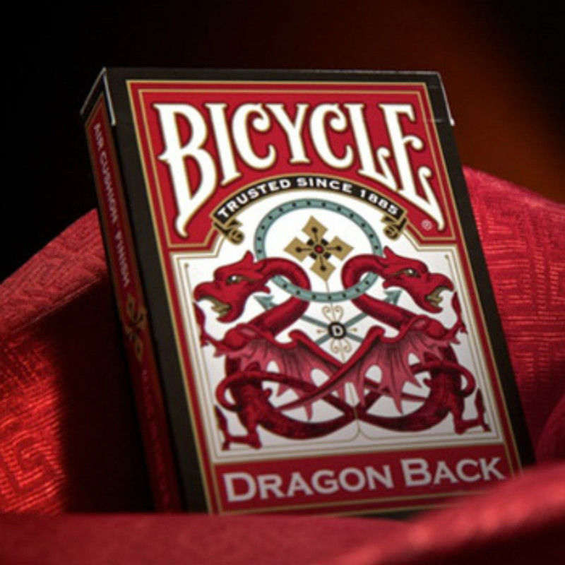 Hui Qi Magic Double Chinese Dragons Single License Plate Playing Cards Bicycle Dragon B