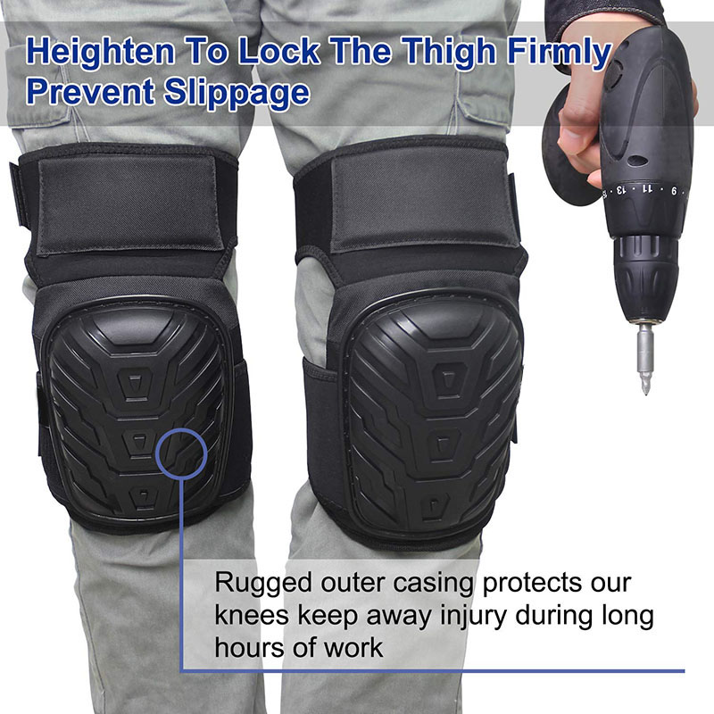 Work Knee Pads With Gel Padding Adjustable Straps For Gardening Construction Works HSJ88