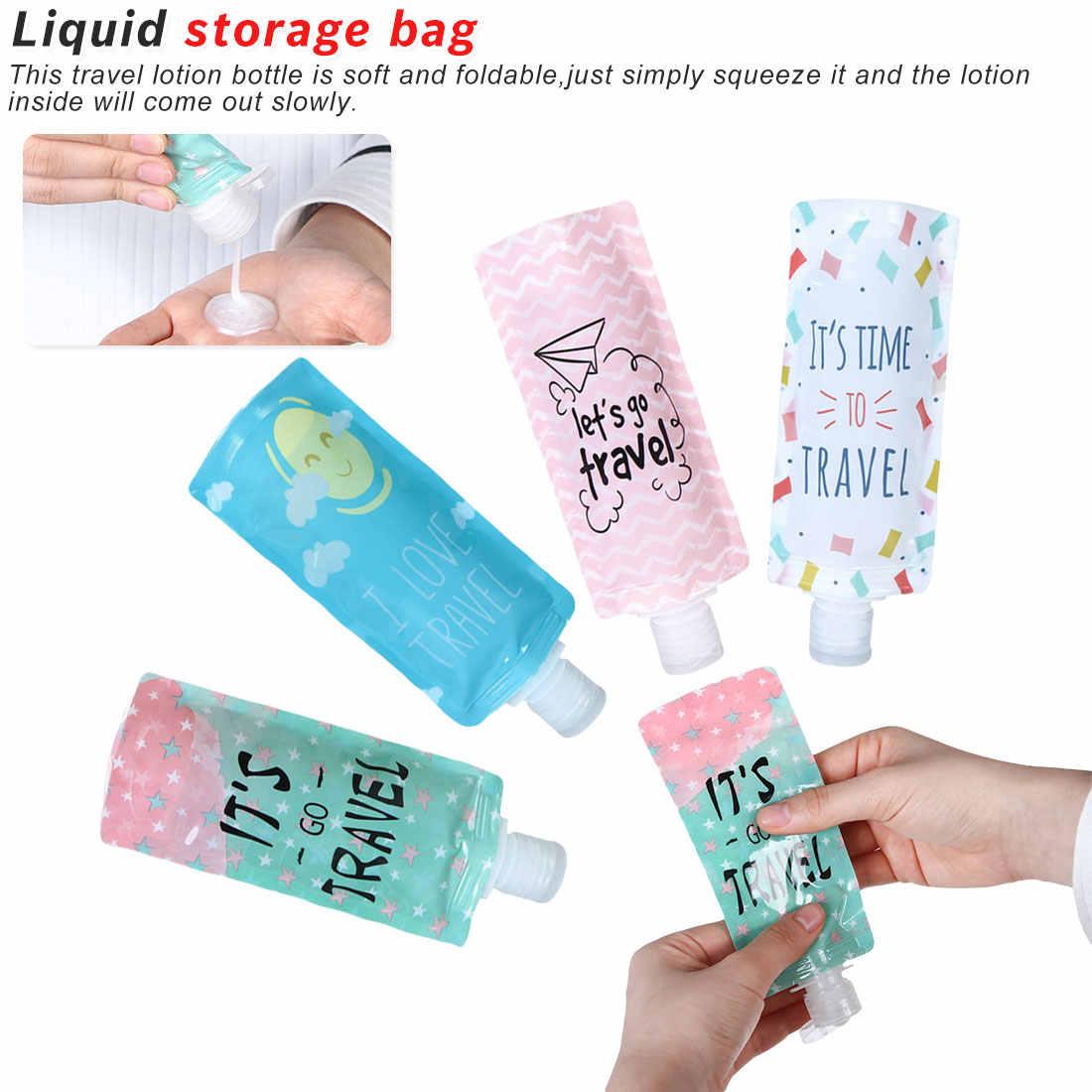 100ml podróży butelka z mydłem w płynie do napełniania kosmetyków torba z pvc, przenośny torba do pakowania szampon/płyn do makijażu sub butelki butelka opakowaniowa