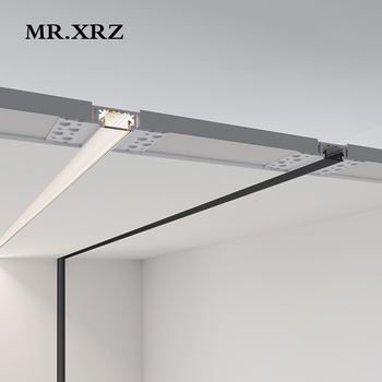 MR.XRZ 2m 18W SMD Linear LED Bar Lights Recessed Aluminum Profile led Line Lamps With Silicone Cover For Home Indoor Lighting