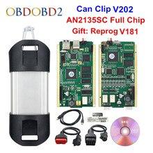Melhor an2135sc/an2131qc chip completo para pode clipe v206 + reprog v191 ferramenta de diagnóstico automático ouro pcb para pode clipe carros 1998-2020