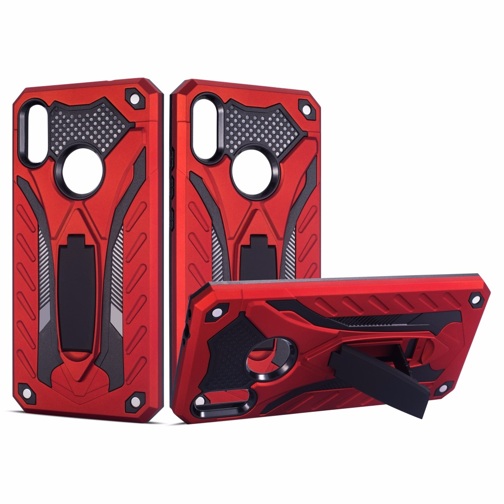 Shockproof Tough Silicone Armor Phone Case Stand Holder