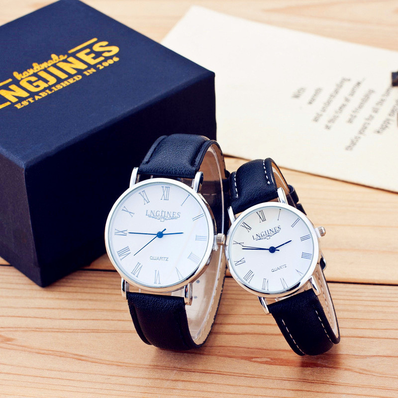 Lovers Couple Casual Simple Quartz Watch Gift Brand Design Women Men Watches Leather Wristwatch Clock Women's Dress Accessories