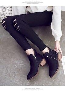 Image 3 - รองเท้าหนังนิ่มสำหรับสตรีแพลตฟอร์มรองเท้าผู้หญิงรองเท้ารองเท้าสไตล์ Street