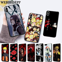 WEBBEDEPP Akatsuki logo Naruto Silicone soft Case for iPhone 5 SE 5S 6 6S Plus 7 8 11 Pro X XS Max XR