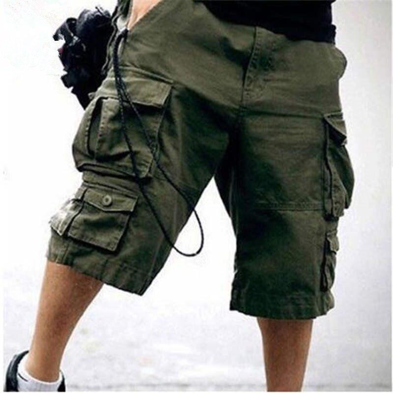 2019 новые летние поступления мужские брюки карго шорты, хлопковые укороченные штаны дизайнерские камуфляжные брюки 11 Цвета Размеры S M L XL XXL