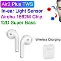 Беспроводные наушники Shaing Air2 Plus, TWS наушники 1:1 Air 2 с текстовым серийным номером, наушники с супер басами, время прослушивания музыки 7 часов, ...