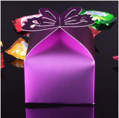100x Bonbonniere Bomboniere Candy Gift Boxes Butterfly Pink 60x60x60mm