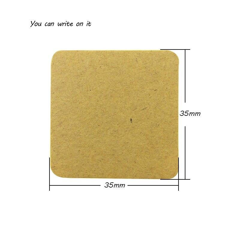 Купить с кэшбэком 100pcs/lot Square Kraft Paper Blank Sealing Sticker For Handmade Product DIY Gift Package Decoration Label Stickers Scrapbooking