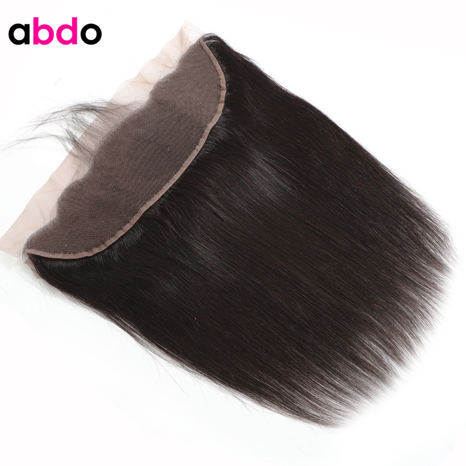 Straight Brazilian Human Hair 13x4 13x6 Lace Frontal Closure With Baby Hair Middle Ratio Non-Remy Hair Lace Frontal Free Part