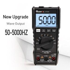 Image 4 - MUSTOOL MT108T cyfrowy multimetr 6000 liczy True RMS NCV urządzenie do pomiaru temperatury prostokątna fala wyjście podświetlenie miernik elektroniczny
