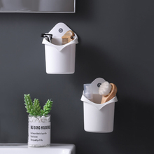 Shelf-free Perforated Put Toothpaste/toothbrush/makeup Comb Wall-mounted Rack Toilet Storage Box Bathroom Small Tube Accessories