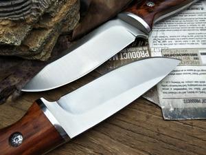 Image 4 - LCM66 ציד ישר סכין טקטי knifeFixed סכינים, פלדת ראש + מוצק עץ ידית הישרדות סכין, קמפינג הצלת סכין כלים
