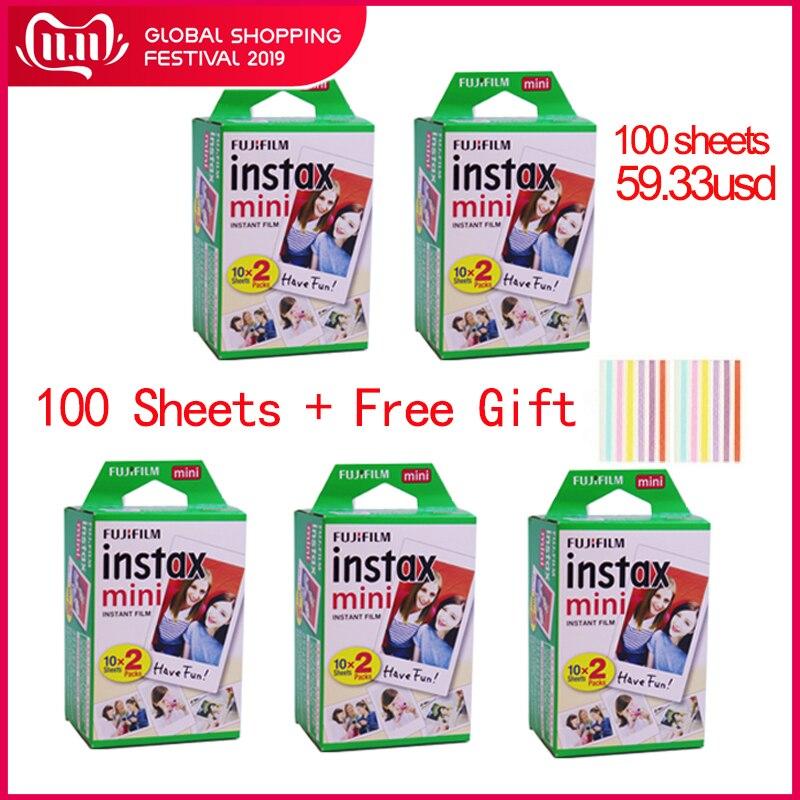 20-100 blätter Fuji Fujifilm instax mini 9 filme weißen Rand 3 Zoll breite film für Instant Kamera mini 8 9 7s 25 50s 90 Foto papier