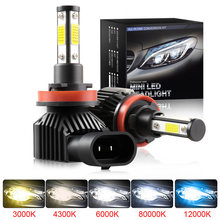 New Mini LED Turbo Car Headlights H7 H4 H11 H1 H8 H9 9005 HB3 9006 HB4 9012 Fog Lights Lamp Auto Bulbs 80W 20000LM 12V 24V Moto