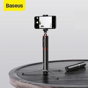 Image 1 - Baseus بلوتوث Selfie عصا المحمولة المحمولة الهاتف الذكي كاميرا ترايبود مع اللاسلكية عن بعد آيفون سامسونج هواوي أندرويد