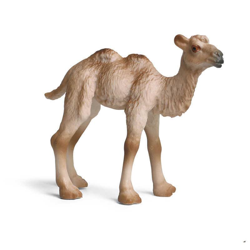 ミニ農場野生動物園ジャングル家禽動物モデルモデルのおもちゃ羊ガチョウフィギュアコレクション子供のためのギフト早期教育ホームデコ