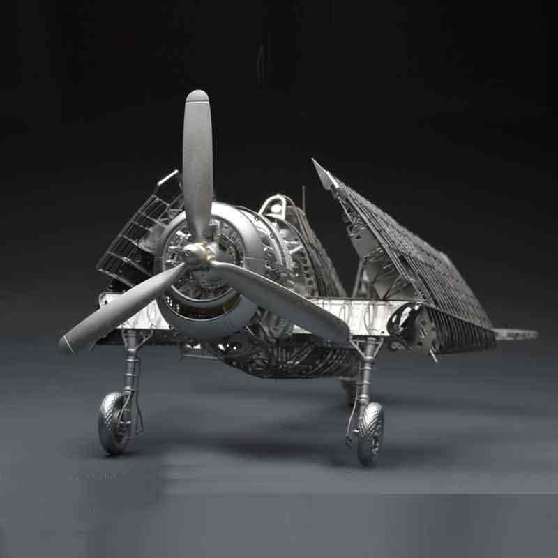 جميع المعادن سبائك DIY الجمعية نموذج طائرة 1/48 F6F-5 الجحيم القط مقاتلة الهيكل العظمي لغز