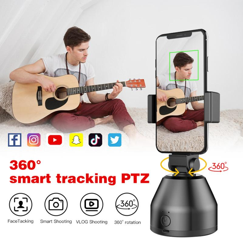 Smart AI Gimbal Personal Robot Cameraman 360 Rotation Face Tracking Face Tracking Camera Phone Holder Fast Delivery