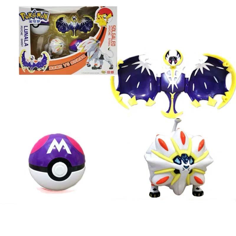 anime-font-b-pokemon-b-font-pikachu-charizard-venusaur-solgaleo-lunala-pokeball-poke-ball-capsule-toys-transform-collections-gift