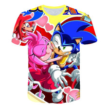 Summer 3D Boys Mario Supersonic sonic Print Girls T-shirts Costume Children Newest Sonic Clothing Kids Clothes Baby T shirts glamglow gravity sonic blue t