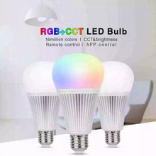 Miboxer FUT012  9W RGB+CCT LED Bulb AC100~240V 50/60Hz 4G And Support Smart Phone APP Third Party Voice Control