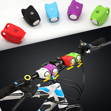 Bicycle Electronic Bell 110dB Rainproof Horn MBT Mountain Bike Riding Equipment Portable Silicone Road Cycling Handlebar Bells bicycle bike handlebar ball air horn trumpet ring bell loudspeaker noise maker free shipping