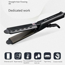 лучшая цена Ceramic Tourmaline Ionic Flat Iron Hair Straightener Professional Glider Temperature Adjustment Hair Flat Iron EU/UK/US Plug