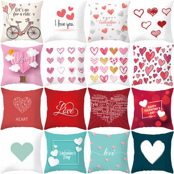 Skeleton Print Cushion Cover American Valentine Day Digital Car Pillow Cushion Cover Without Core Decorative Pillowcases cartoon comestics print cushion cover