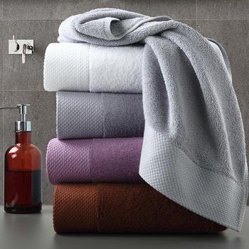 Duży gruby ręcznik zestaw nowoczesny solidna kolorowa bawełniana ręcznik łazienka ręka twarz prysznic ręczniki dla dorosłych dzieci domu toalla de ducha tanie i dobre opinie Zestaw ręczników Other Skośnym 60g 180g 800g Stałe 100 bawełna Przędzy barwionej bath-037 5 s-10 s Sprężone Quick-dry