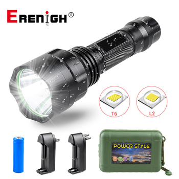 Super Bright Lantern LED Flashlight T6 L2 5 Modes Waterproof Led Torch for Night Riding Camping Hiking Hunting use 18650 Battery