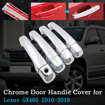 Chrome Car Door Handle Cover Shell for Lexus GX460 j150 LC150 2010~2019 2011 2013 2015 2018 Exterior Accessories Auto-Sale-Goods image