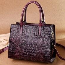 Genuine Luxury Brand Handbags Women Bags Designer Handbags High Quality Alligator Prints Shoulder Messenger Tote Bags for Women