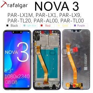 Image 1 - Affichage Trafalgar pour Huawei Nova 3 écran LCD PAR LX1 écran tactile numériseur pour Huawei Nova 3 affichage avec remplacement de cadre