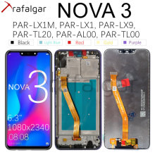 Trafalgar Display For Huawei Nova 3 LCD Display PAR LX1 Digitizer Touch Screen For Huawei Nova 3 Display With Frame Replacement