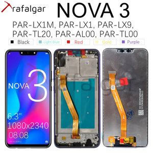 Image 1 - Trafalgar Display For Huawei Nova 3 LCD Display PAR LX1 Digitizer Touch Screen For Huawei Nova 3 Display With Frame Replacement