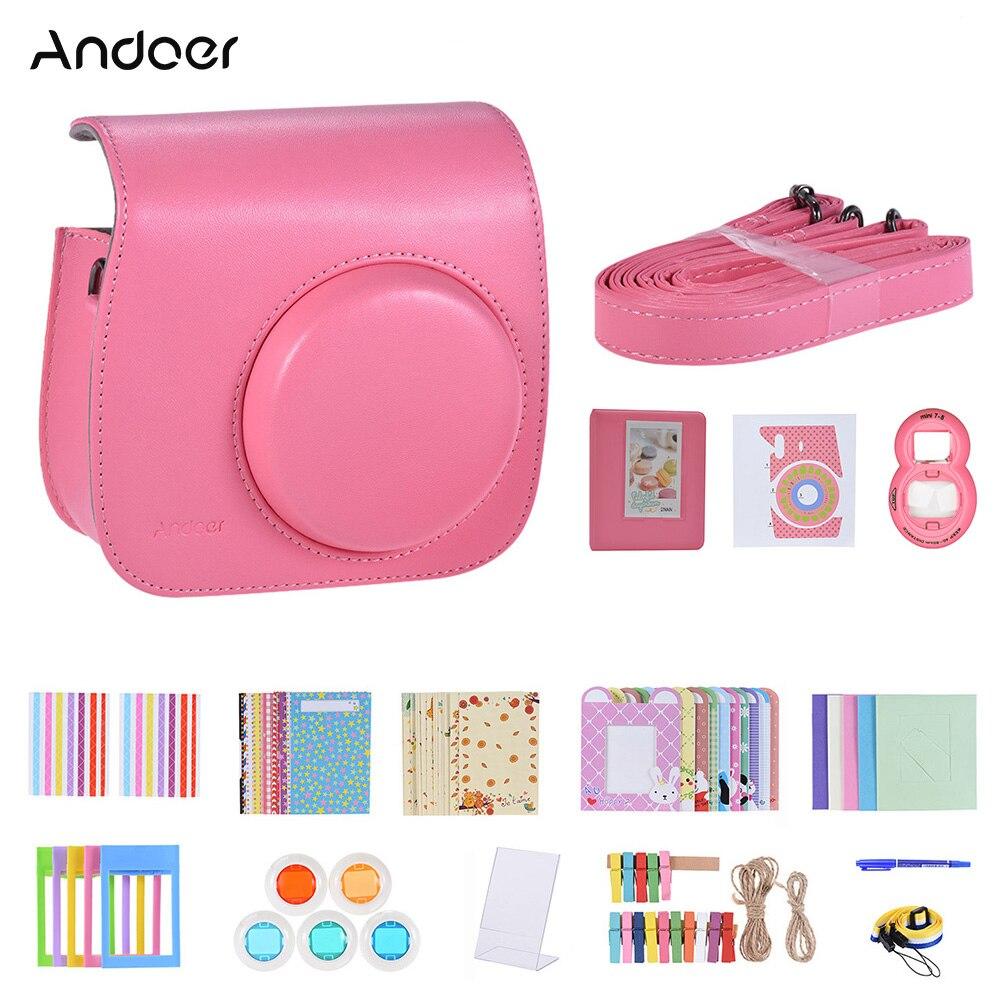 andoer-14-in-1-fujifilm-instax-mini-camera-include-case-strap-sticker-selfie-lens-5-filter-album-frame-sticker-other