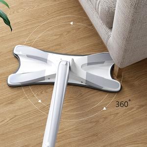 Image 2 - X نوع ممسحة أرضية مع 3 قطعة قابلة لإعادة الاستخدام منصات ستوكات 360 درجة ممسحة ناعمة للمنزل استبدال غسل اليد أدوات تنظيف المنزلية