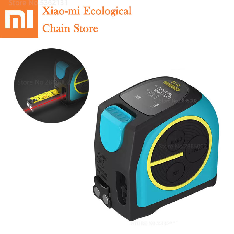 Xiaomi Mi DT10 Laser Tape Measure 2 In 1 LCD Digital Laser Measure Laser 40M Rangefinder With LCD Digital Display Magnetic Hook