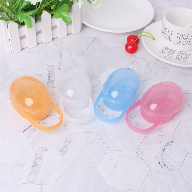 Baby Nipple Container Box Plastic Pacifier Case Soother Cases Organizer Storage Portable Transparent Newborn Outdoor Travel Carr