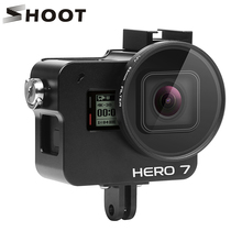 SHOOT CNC Aluminum Alloy Protective Case Cage Mount for GoPro Hero 7 6 5 Black with 52mm UV Lens for Go Pro Hero 7 6 5 Accessory