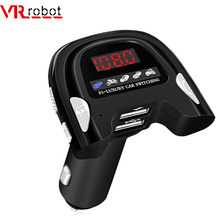 VR roboter Bluetooth 5,0 Auto MP3 Player Wireless FM Transimtter Car Kit Mit Dual USB Ladegerät Auto analog Motoren sounds(China)
